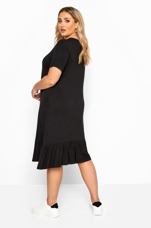 LIMITED COLLECTION Black Frill Hem Dress