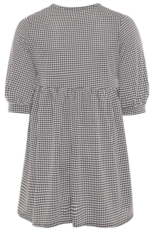 LIMITED COLLECTION Black Gingham Check Smock Dress