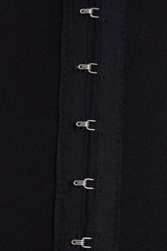 LIMITED COLLECTION Black Hook & Eye One Shoulder Bodysuit