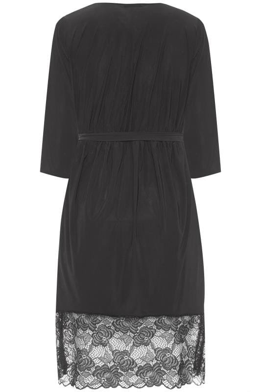 LIMITED COLLECTION Black Lace Soft Touch Robe