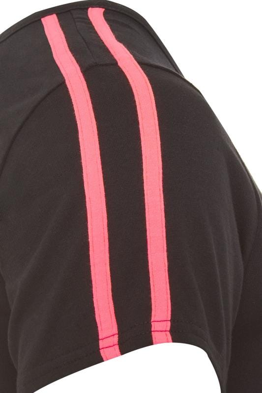 LIMITED COLLECTION Black Neon Pink Tape Top