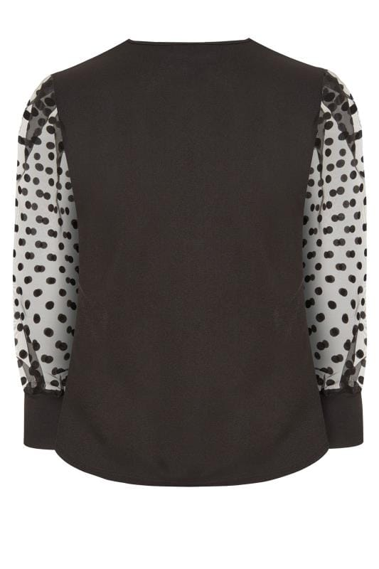 LIMITED COLLECTION Black Organza Ruched Top