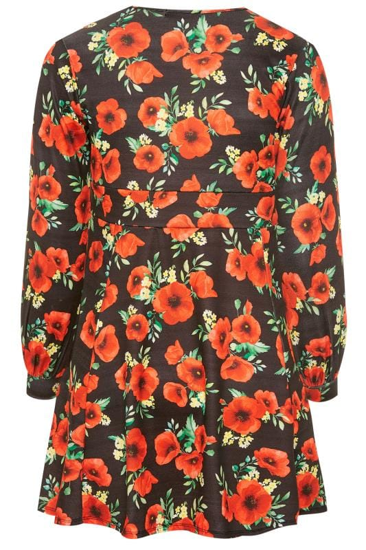 LIMITED COLLECTION Black Poppy Skater Dress