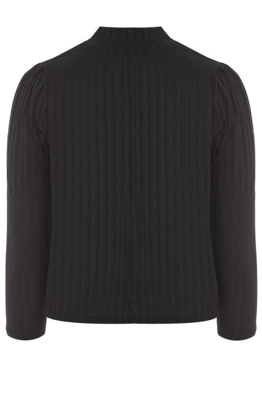 LIMITED COLLECTION Black Ribbed Turtleneck Top