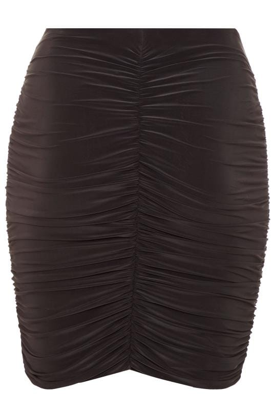 LIMITED COLLECTION Black Ruched Skirt