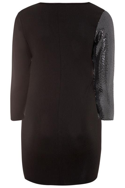 LIMITED COLLECTION Black Sequin Wrap Dress