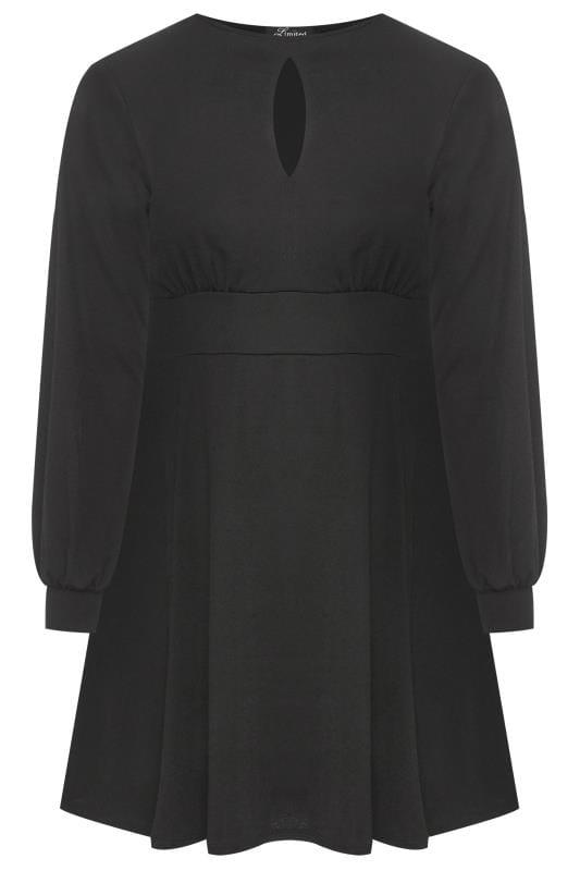 Robes Noires Grande Taille LIMITED COLLECTION Black Skater Dress