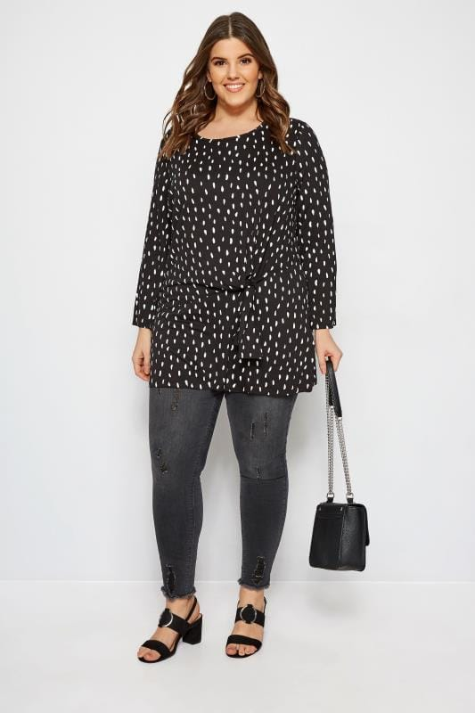 LIMITED COLLECTION Black Spot Tie Top