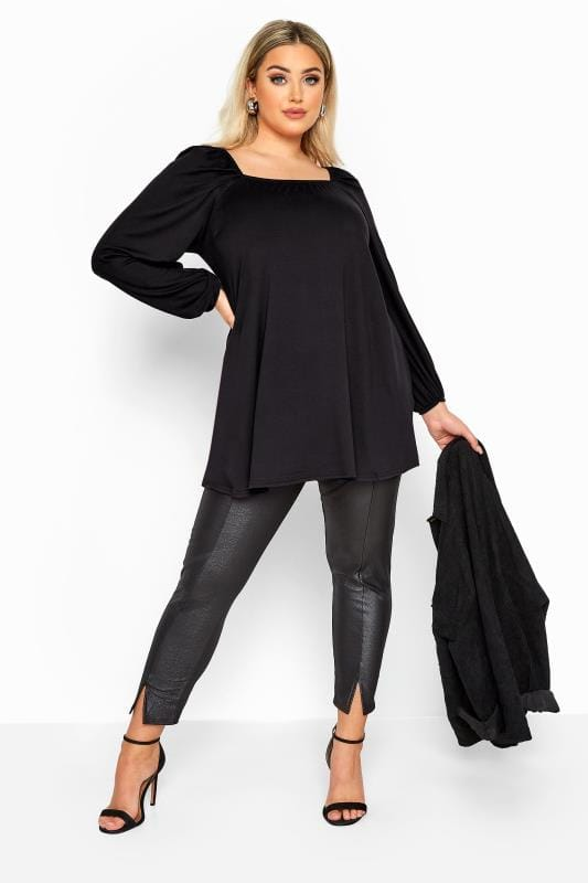 LIMITED COLLECTION Black Square Neck Top