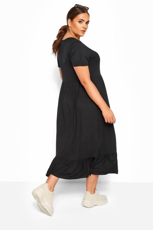 LIMITED COLLECTION Black Tiered Maxi Smock Dress_1380.jpg