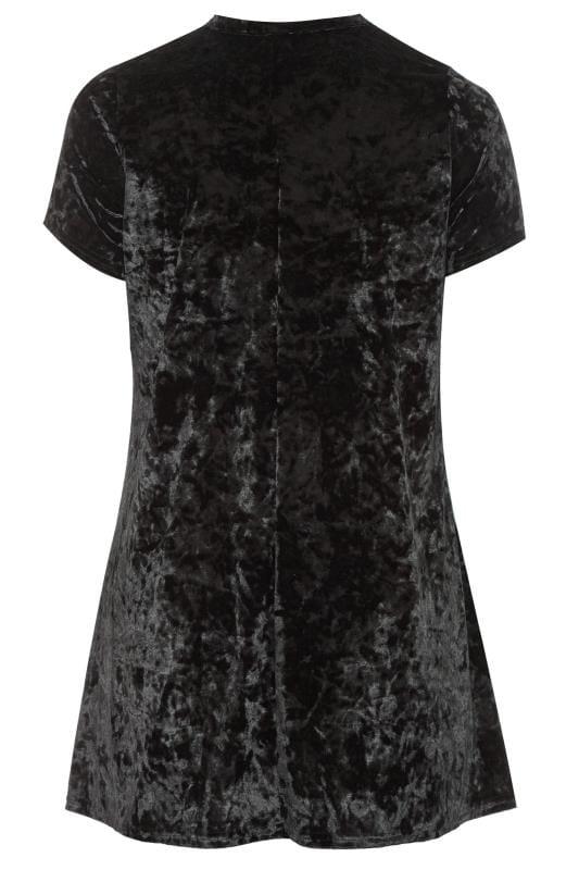 LIMITED COLLECTION Velours-Kleid mit Choker-Kragen - Schwarz