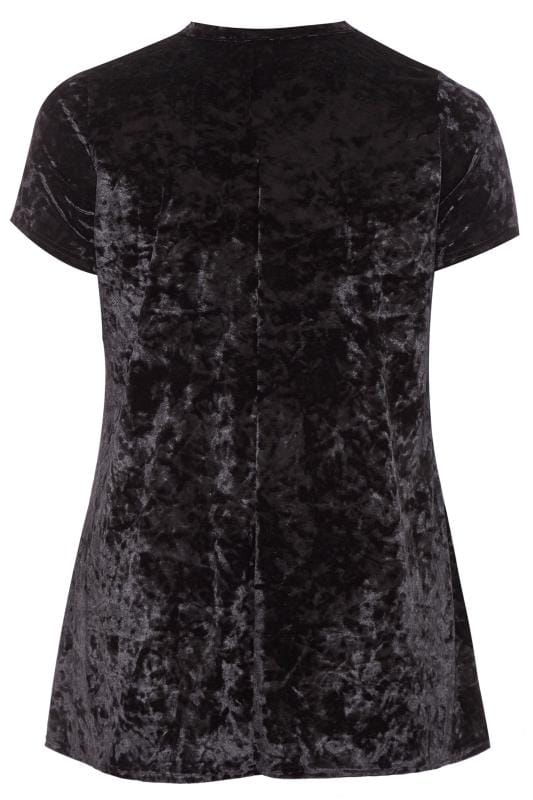 LIMITED COLLECTION Black Velour Choker Top