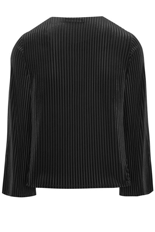 LIMITED COLLECTION Black Velour Ribbed Top