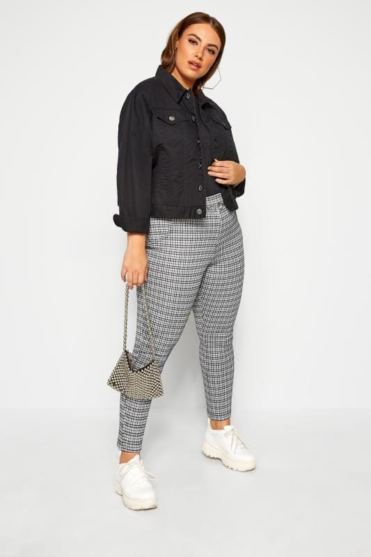 Plus Size Jeggings LIMITED COLLECTION Black & White Check Ponte Jegging
