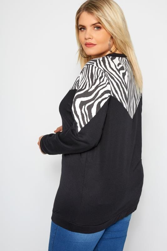 Black Zebra Chevron Sweatshirt