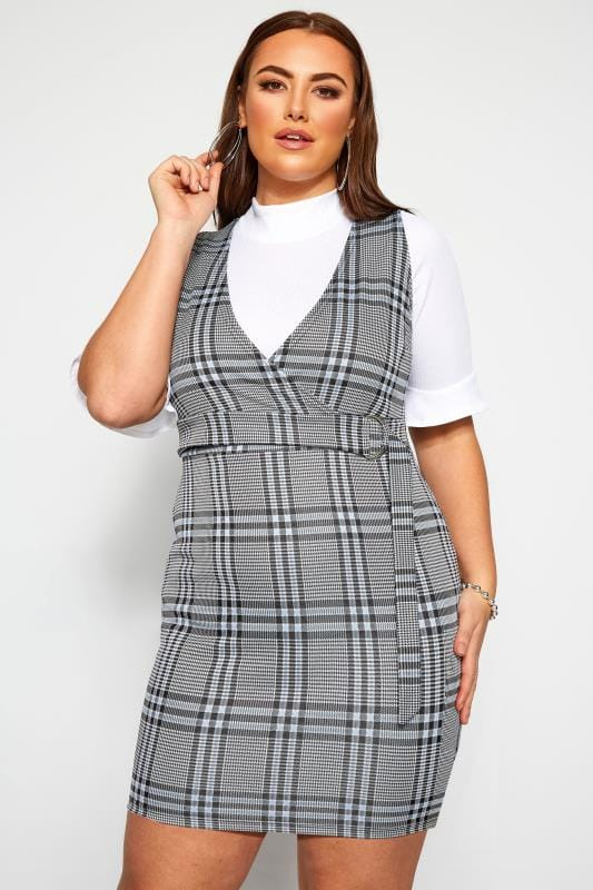 LIMITED COLLECTION Blue Check Pinafore Dress
