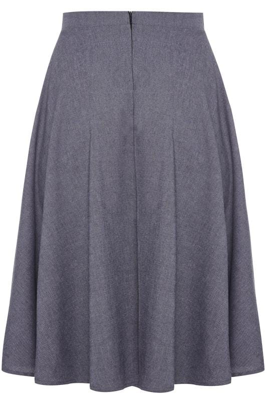 LIMITED COLLECTION Blue Denim Look Midi Skirt