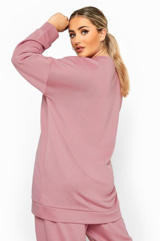 Plus Size Sweatshirts LIMITED COLLECTION Blush Pink Sweatshirt