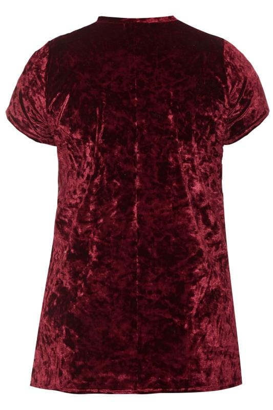 LIMITED COLLECTION Burgundy Velour Choker Top