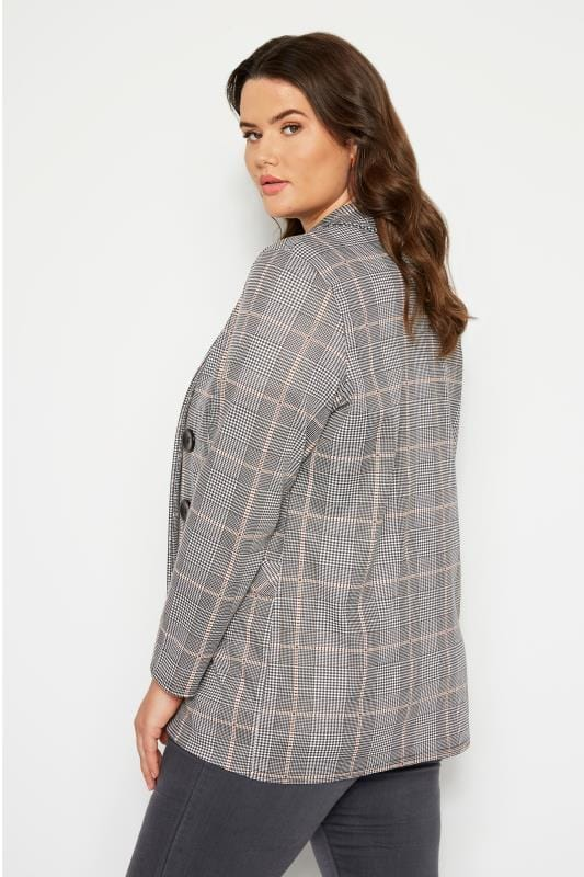 Dogtooth Check Button Jacket