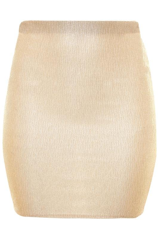 LIMITED COLLECTION Gold Glitter Mini Skirt