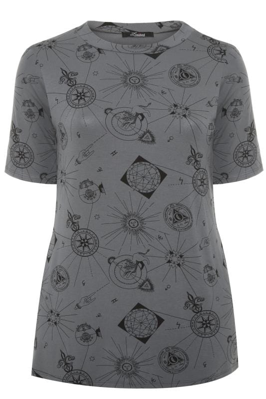 LIMITED COLLECTION Grey Astrology Print T-Shirt
