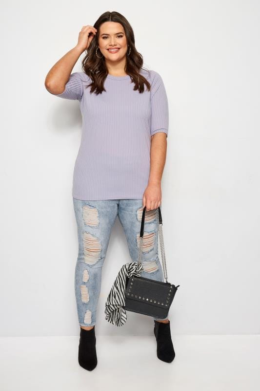 Lilac Ribbed Top