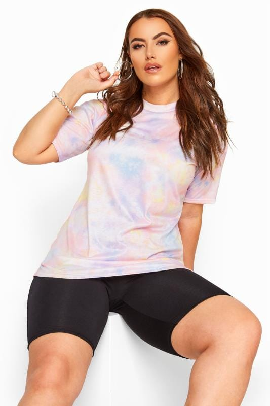 LIMITED COLLECTION Pink Pastel Tie Dye T-Shirt