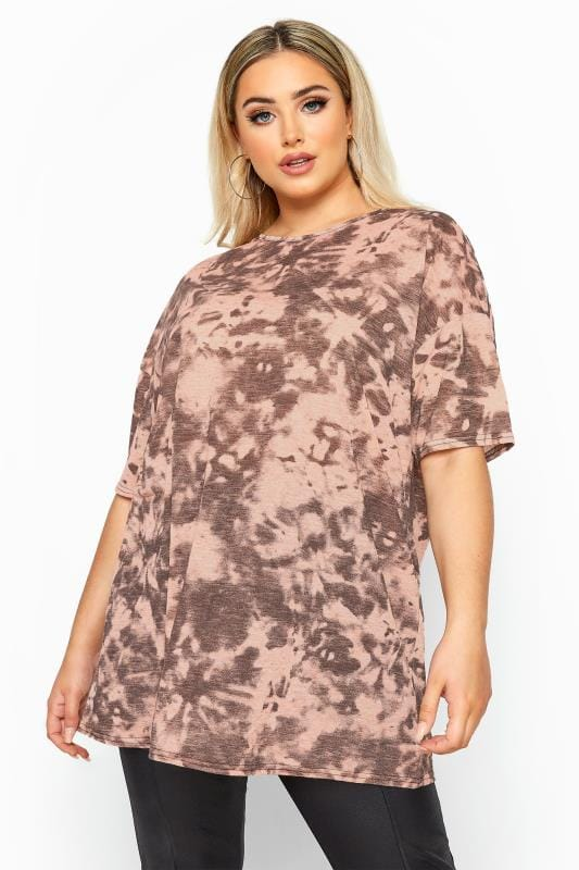 LIMITED COLLECTION Pink Tie Dye Oversized T-Shirt