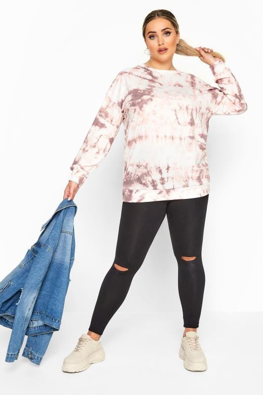 LIMITED COLLECTION Pink Tie Dye Sweatshirt