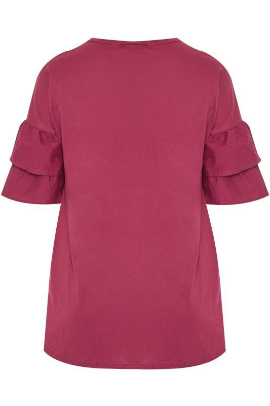 LIMITED COLLECTION Pink Poplin Drop Shoulder Angel Sleeve Top