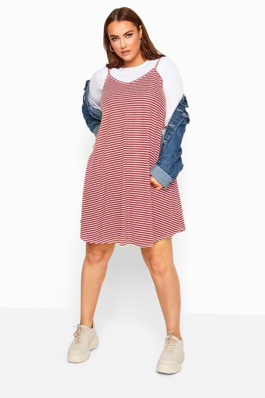 LIMITED COLLECTION Red Striped Cami Swing Sundress