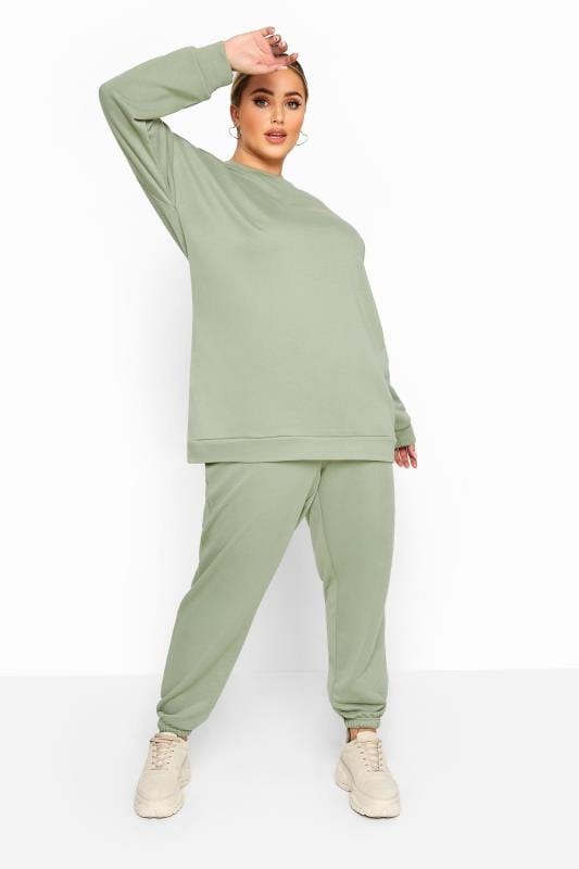 Plus Size Joggers LIMITED COLLECTION Sage Green Joggers