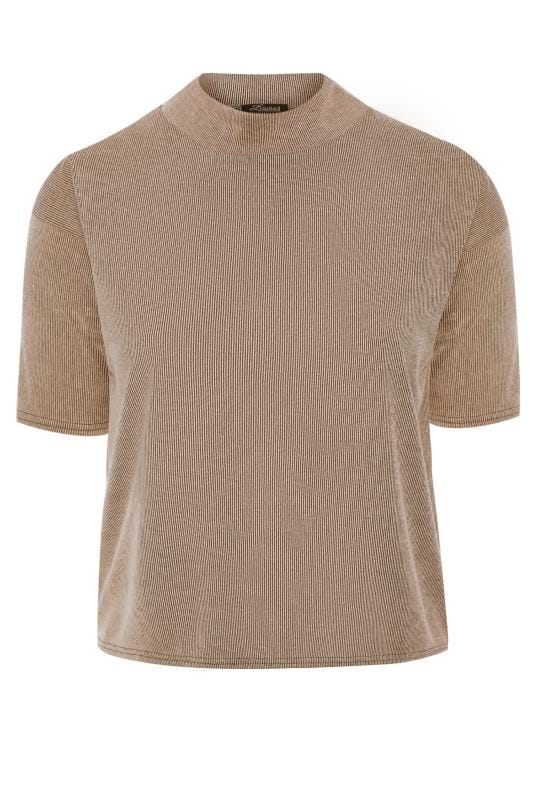 LIMITED COLLECTION Stone Ribbed High Neck Top
