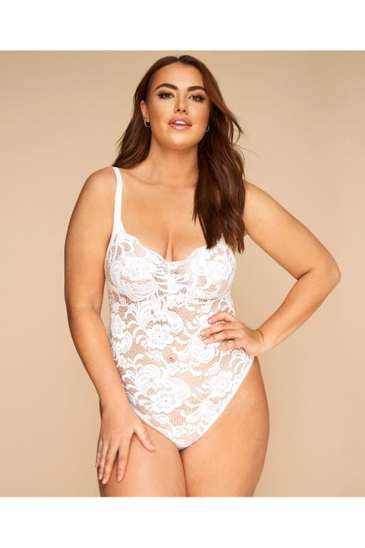 Plus Size Sexy Lingerie LIMITED COLLECTION White Lace Body