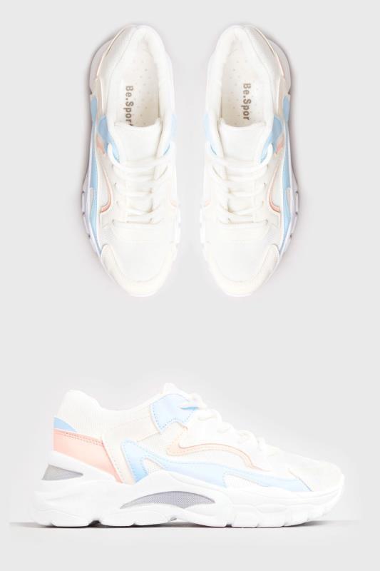 LIMITED COLLECTION Białe&pastelowe buty sportowe, damskie