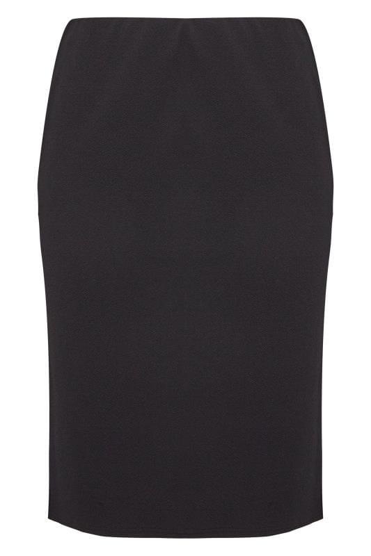 Black Jersey Pencil Skirt