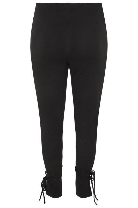 Black Tie Hem Trousers
