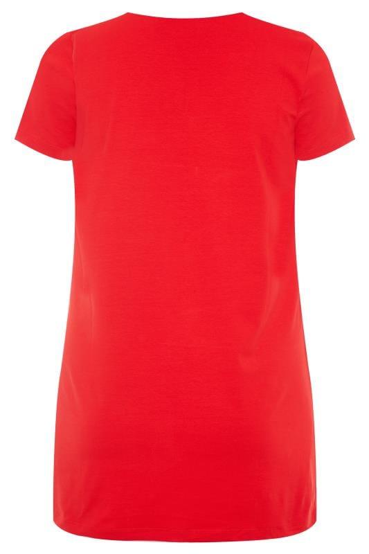 Red Longline T-Shirt