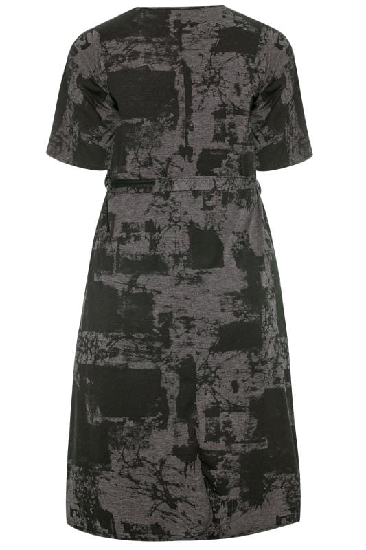 LIMITED COLLECTION Charcoal Grey Tie Dye Midi Dress