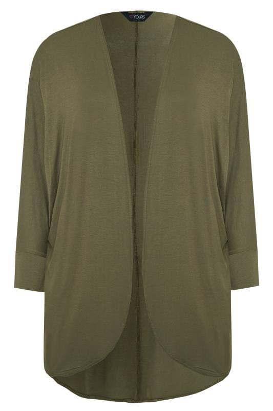 Khaki Green Cocoon Cardigan