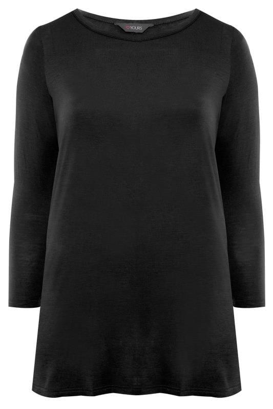 Black Long Sleeved Swing Top