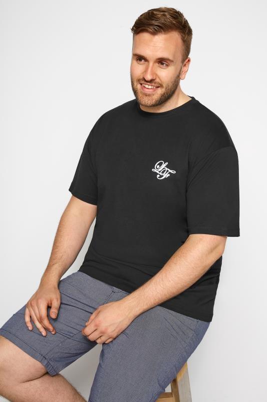 T-Shirts LOYALTY & FAITH Black Dragon Print T-Shirt 201156