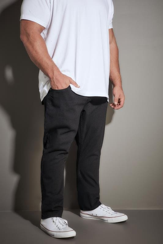 Plus-Größen Straight LOYALTY & FAITH Black Konfer Denim Jeans