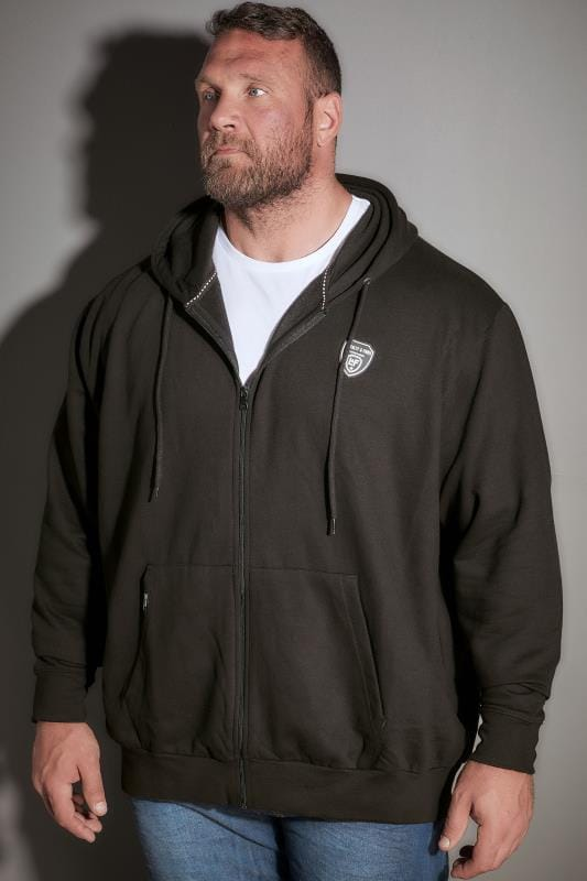 LOYALTY & FAITH Black Logo Zip Through Hoodie