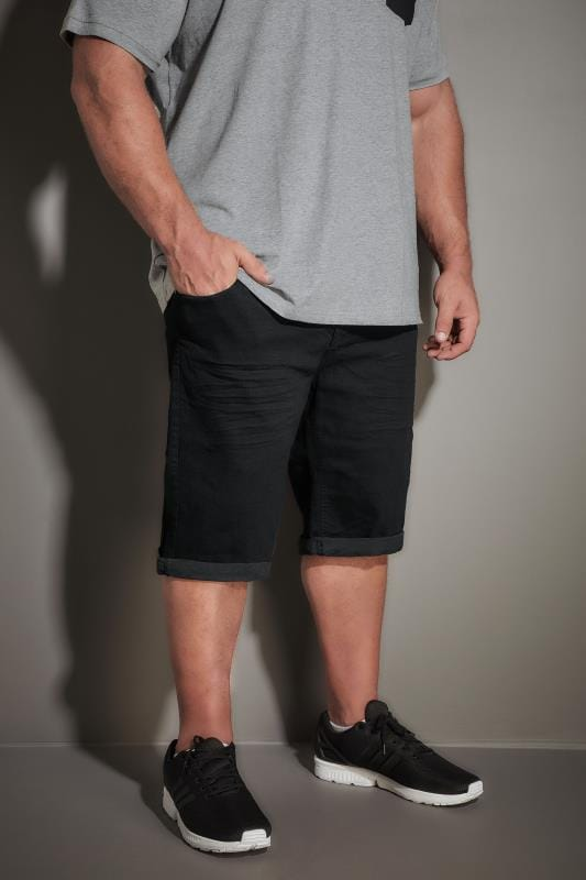LOYALTY & FAITH Black Straight Leg Shorts