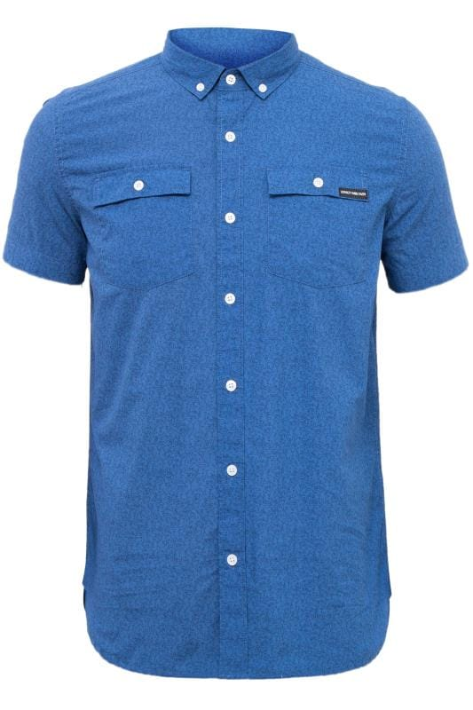 Plus Size Casual Shirts LOYALTY & FAITH Blue Printed Button Down Shirt