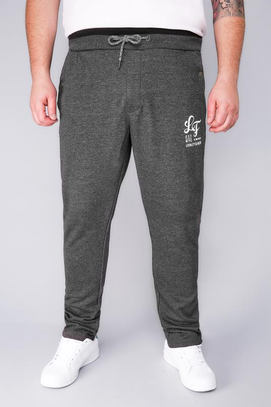 Plus Size Joggers LOYALTY & FAITH Charcoal Basic Joggers