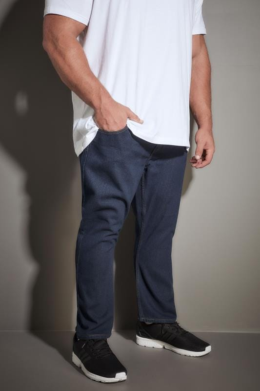 LOYALTY & FAITH Dark Blue Straight Leg Denim Jeans