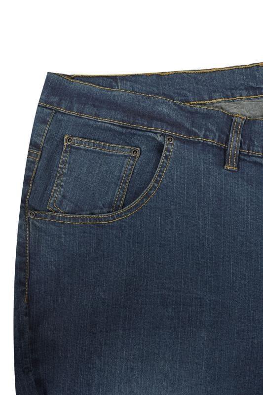 LOYALTY & FAITH Dark Blue Washed Straight Leg Jeans